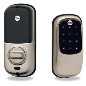 Yale touchscreen z wave key free deadbolt lock suretydiy for Adt z wave door lock